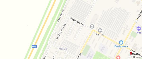 Юбилейная улица на карте Нефтегорска с номерами домов