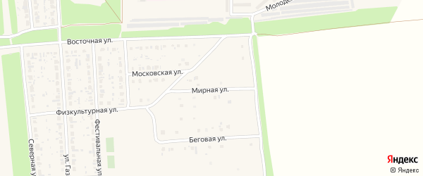 Мирная улица на карте Нефтегорска с номерами домов