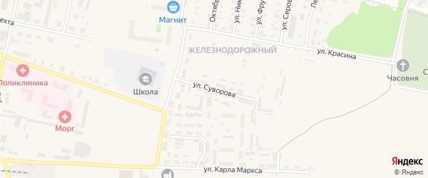 Улица Суворова на карте Зуевки с номерами домов