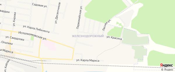 Карта железнодорожного разъезда Рехино в Кировской области с улицами и номерами домов