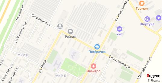 Спортивная улица в Нефтегорске с номерами домов на карте. Спутник и схема онлайн