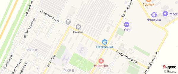 Спортивная улица на карте Нефтегорска с номерами домов