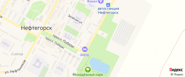 Молодежная улица на карте Нефтегорска с номерами домов