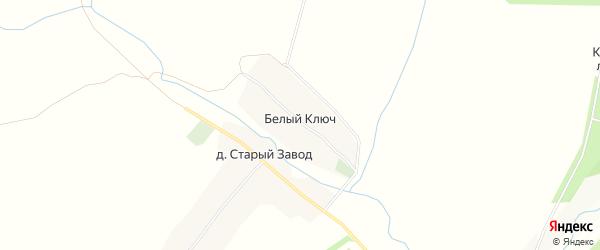 Карта деревни Белого Ключа в Татарстане с улицами и номерами домов