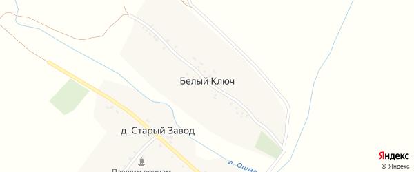 Территория Ошма КП на карте деревни Белого Ключа Татарстана с номерами домов