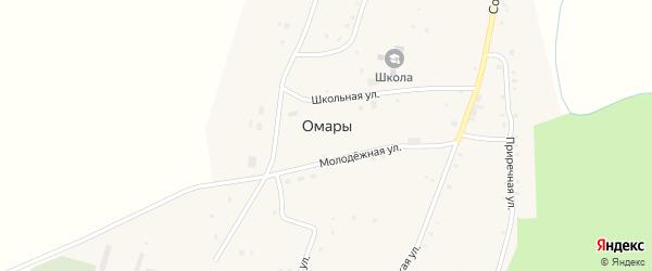 Советская улица на карте села Омары Татарстана с номерами домов