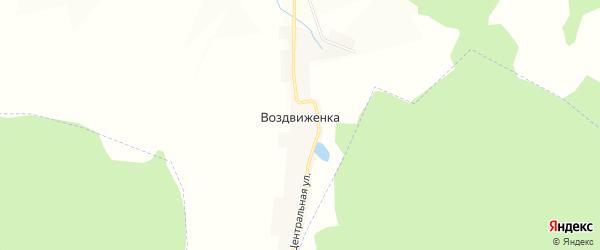 Карта поселка Воздвиженки в Самарской области с улицами и номерами домов