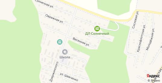 Весенняя улица в Сосновке с номерами домов на карте. Спутник и схема онлайн