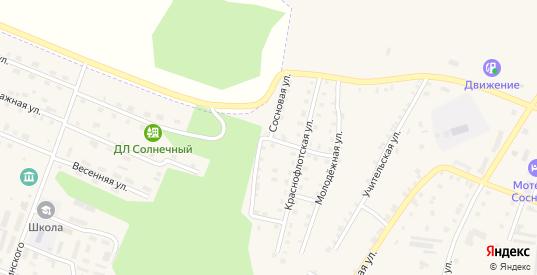 Сосновая улица в Сосновке с номерами домов на карте. Спутник и схема онлайн