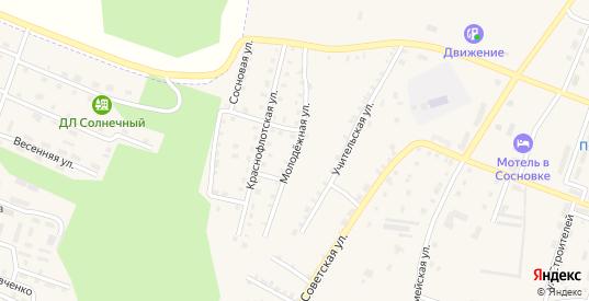 Молодежная улица в Сосновке с номерами домов на карте. Спутник и схема онлайн