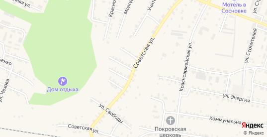 Советская улица в Сосновке с номерами домов на карте. Спутник и схема онлайн