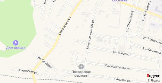 Красноармейский переулок в Сосновке с номерами домов на карте. Спутник и схема онлайн