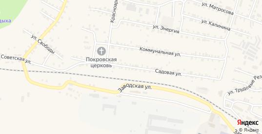 Садовая улица в Сосновке с номерами домов на карте. Спутник и схема онлайн