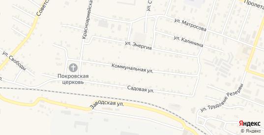 Коммунальная улица в Сосновке с номерами домов на карте. Спутник и схема онлайн