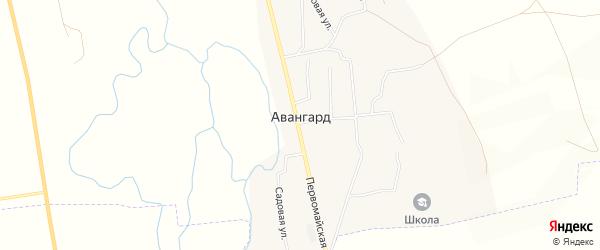Карта поселка Авангарда в Самарской области с улицами и номерами домов