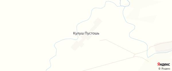 Карта деревни Кулуша Пустошь в Татарстане с улицами и номерами домов