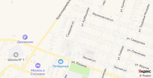 Улица Куйбышева в Сосновке с номерами домов на карте. Спутник и схема онлайн