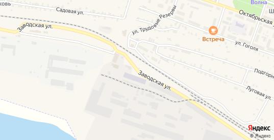 Заводская улица в Сосновке с номерами домов на карте. Спутник и схема онлайн