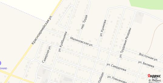 Малиновская улица в Сосновке с номерами домов на карте. Спутник и схема онлайн