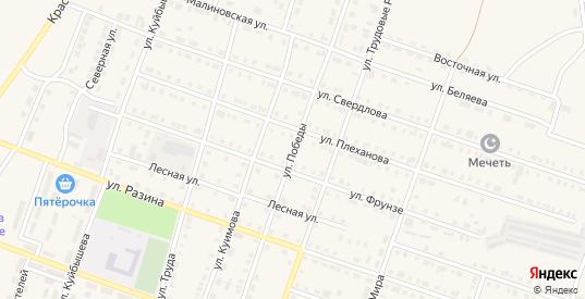 Улица Победы в Сосновке с номерами домов на карте. Спутник и схема онлайн