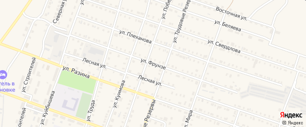 Улица Фрунзе на карте Сосновки с номерами домов