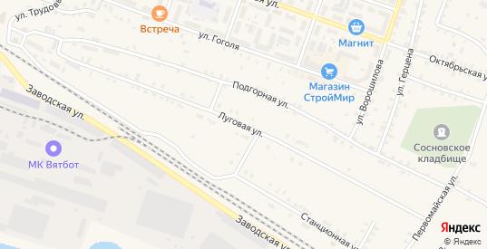 Луговая улица в Сосновке с номерами домов на карте. Спутник и схема онлайн
