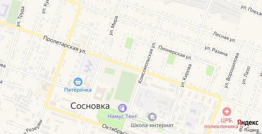 Пролетарская улица в Сосновке с номерами домов на карте. Спутник и схема онлайн