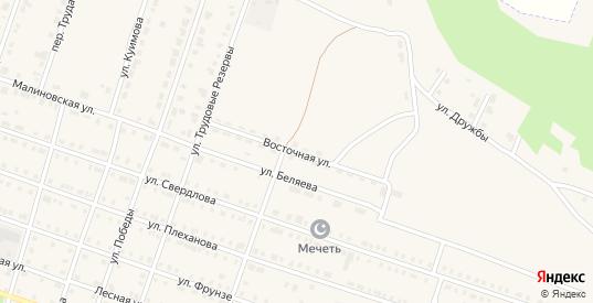 Восточная улица в Сосновке с номерами домов на карте. Спутник и схема онлайн