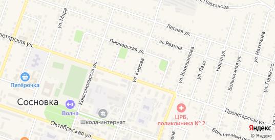 Улица Кирова в Сосновке с номерами домов на карте. Спутник и схема онлайн