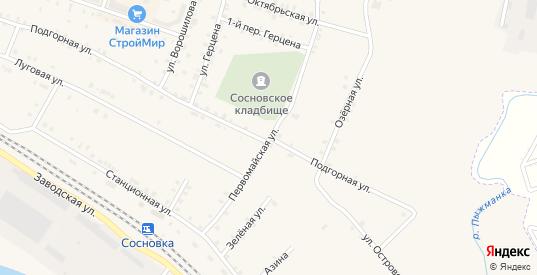 Первомайская улица в Сосновке с номерами домов на карте. Спутник и схема онлайн