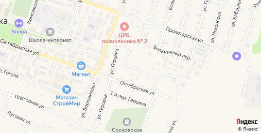 Герцена 2-й переулок в Сосновке с номерами домов на карте. Спутник и схема онлайн