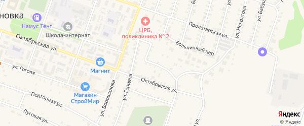 Островского 2-я улица на карте Сосновки с номерами домов
