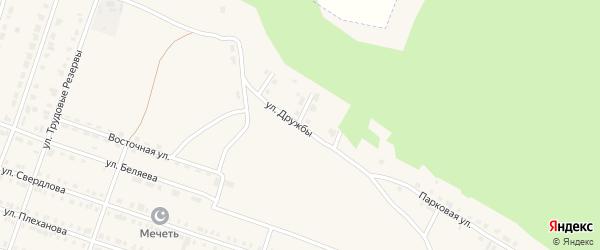 Улица Дружбы на карте Сосновки с номерами домов