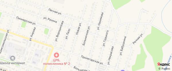 Больничная улица на карте Сосновки с номерами домов