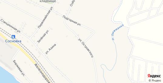 Островского 2-я улица в Сосновке с номерами домов на карте. Спутник и схема онлайн