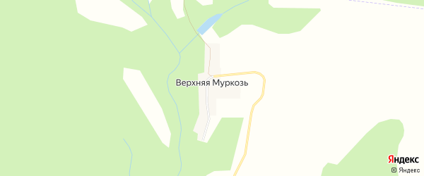Карта деревни Верхней Муркози в Удмуртии с улицами и номерами домов