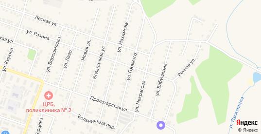 Улица Горького в Сосновке с номерами домов на карте. Спутник и схема онлайн