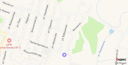 Улица Бабушкина в Сосновке с номерами домов на карте. Спутник и схема онлайн