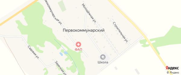 Школьная улица на карте Первокоммунарского поселка Самарской области с номерами домов