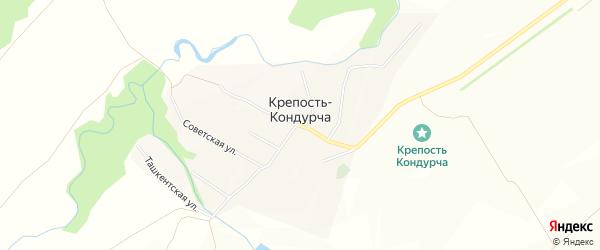 Карта железнодорожного разъезда Кондурчи в Самарской области с улицами и номерами домов