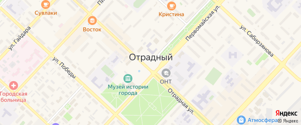 Улица 1-й квартал на карте территории Экрана с номерами домов