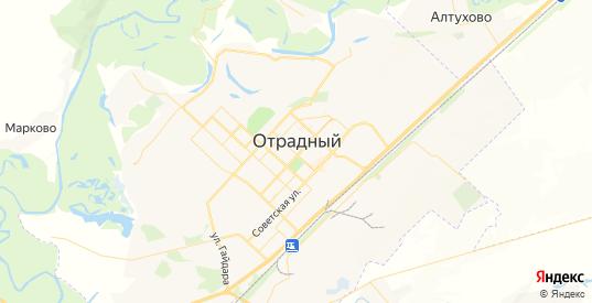 Карта Отрадного с улицами и домами подробная. Показать со спутника номера домов онлайн
