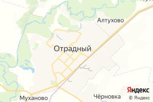 Карта г. Отрадный Самарская область