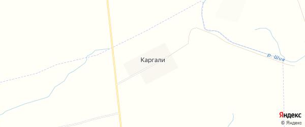 Карта деревни Каргали в Татарстане с улицами и номерами домов