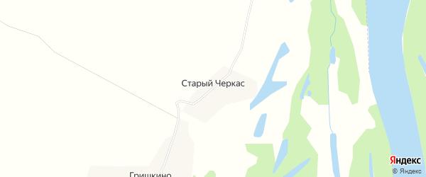 Карта села Старого Черкаса в Татарстане с улицами и номерами домов