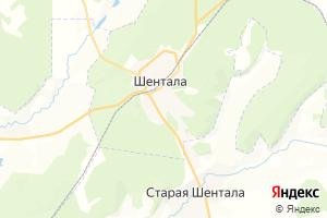 Карта с. Шентала Самарская область