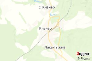 Карта пос. Кизнер Удмуртская Республика