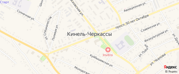 9-ая Дачная улица на карте села Кинели-Черкассы Самарской области с номерами домов