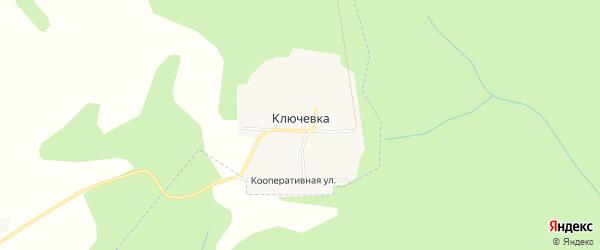 Карта деревни Ключевки в Удмуртии с улицами и номерами домов