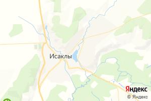 Карта с. Исаклы Самарская область